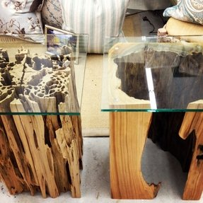Cypress Stump Coffee Table Zef Jam - Cypress stump coffee table