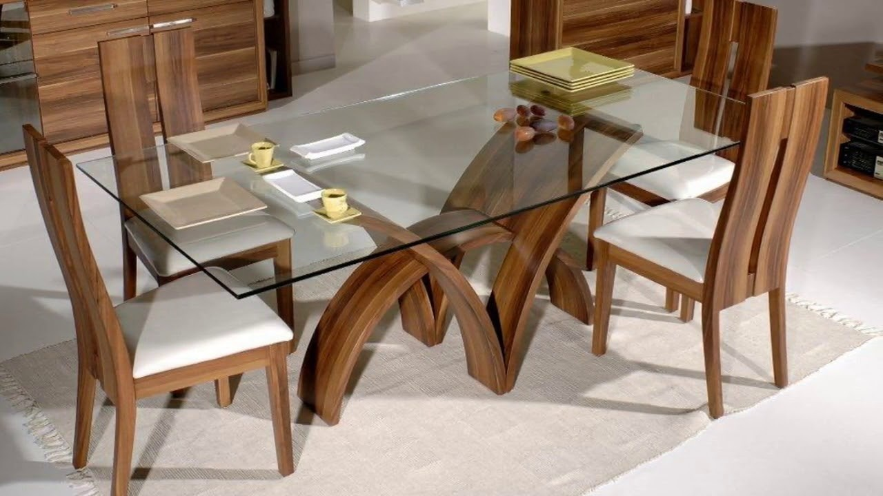 Gentil Glass Top Dining Tables With Wood Base   Ideas On Foter