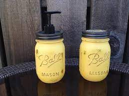 Distressed mason jar soap dispenser and