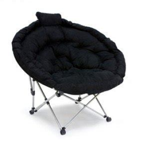 Exceptionnel Extra Large Mac Sports Moon Chair In Black Microfiber