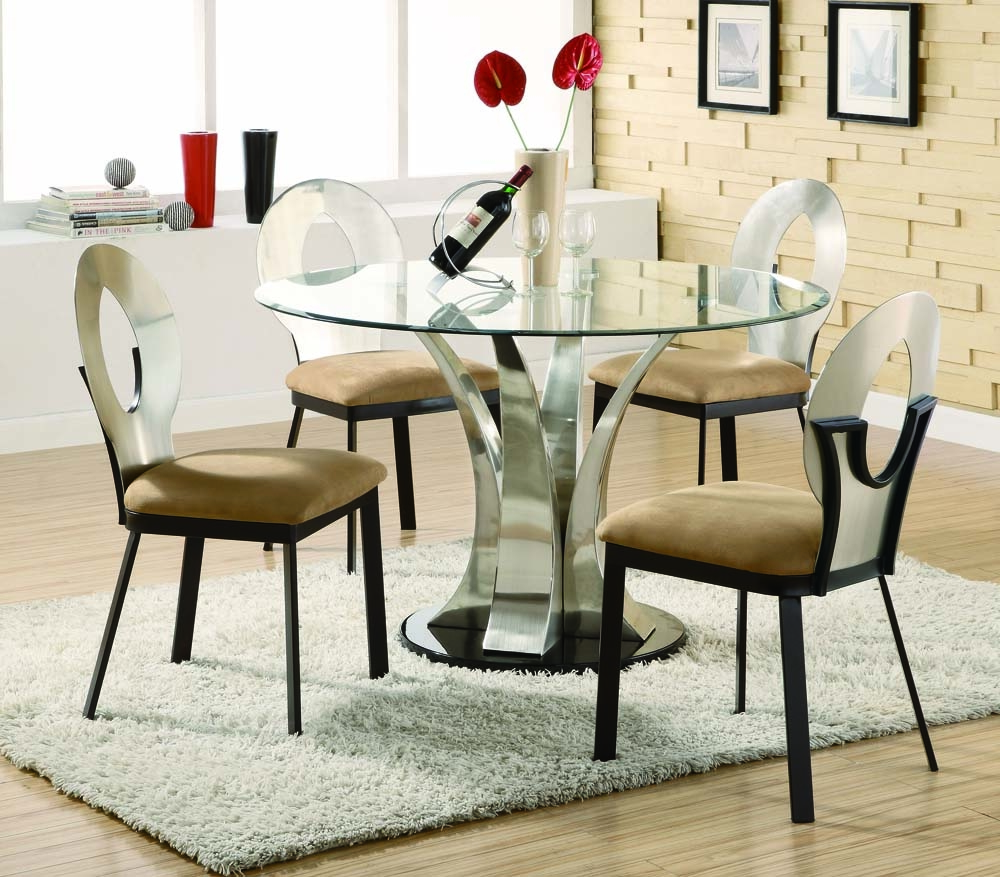 Glass Top Round Kitchen Table Sets   Ideas On Foter