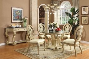 Round Glass Top Dining Sets Foter - Round kitchen table with glass top