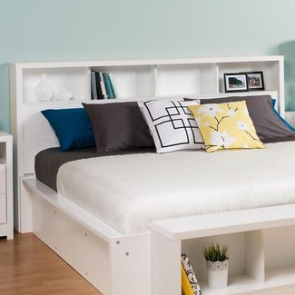 King Size Headboard With Shelves Foter