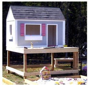 Kids Wood Playhouse Ideas On Foter