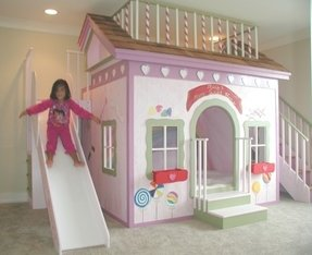 Indoor playhouse with slide 1