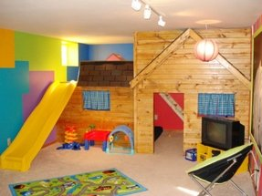 Indoor playhouse with slide 2
