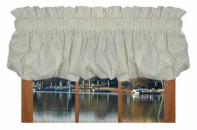 Kerry Solid Color Balloon Valance Curtain 80-Inch-by-14-Inch