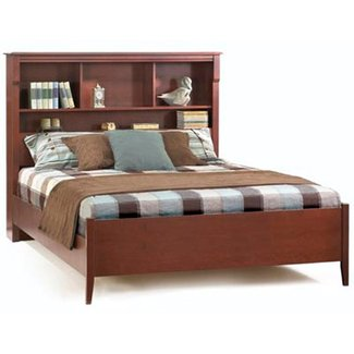 King size headboard with shelves 2