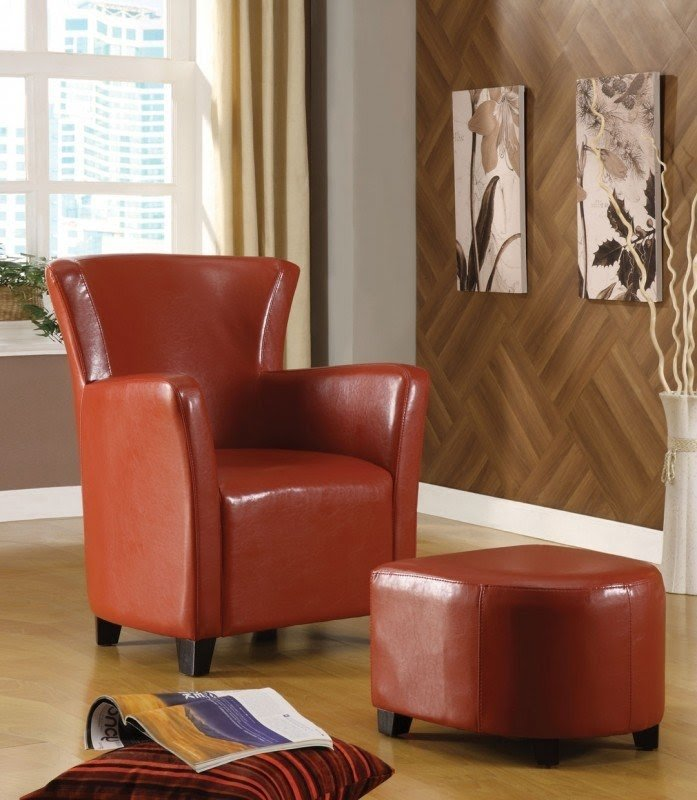 Leather Chair And A Half With Ottoman 14