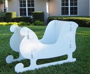 Life size santa sleigh for sale