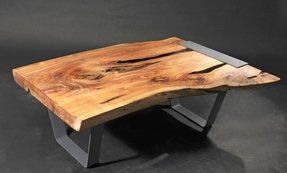 Live edge cypress coffee table