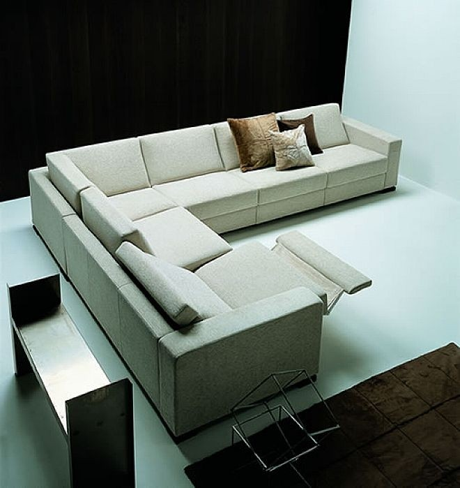 Ordinaire Modern Reclining Sectional   Ideas On Foter
