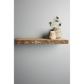 Natural wood floating shelves 5