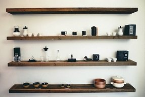 Amazing Natural Wood Floating Shelves Ideas On Foter Interior Design Ideas Tzicisoteloinfo
