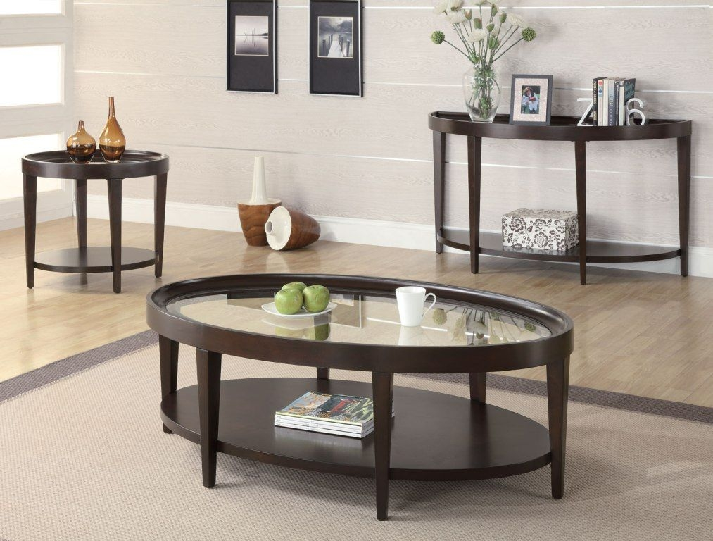 Oval Coffee Table With Storage 1