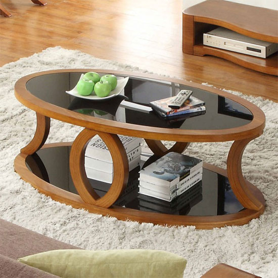 Oval Coffee Table With Storage Foter
