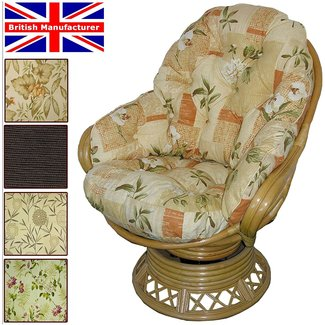 Papasan swivel rocker cushions