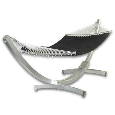 patio heaven deluxe arc aluminum hammock with stand patio hammock stands   foter  rh   foter