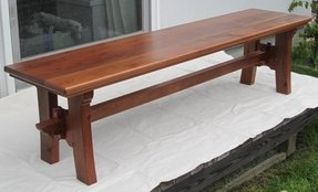 Redwood benches 5
