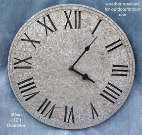 Sale outdoor quality realistic textured stone effect wall clock