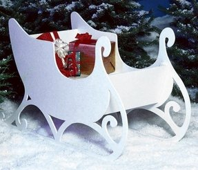 Sleigh and reindeer outdoor decoration