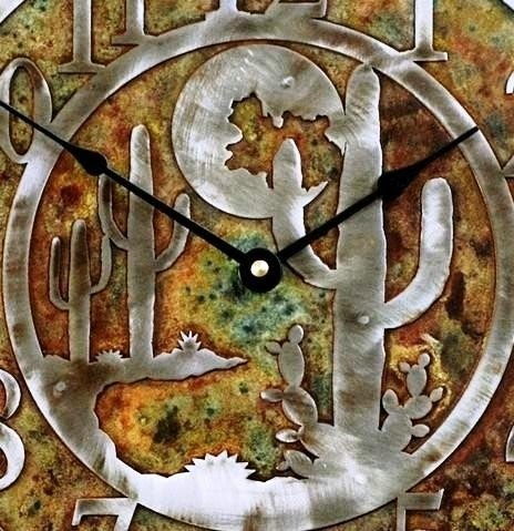 Cowboy on Horse Mirrored Clock