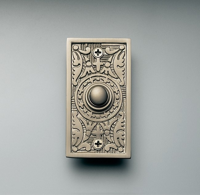 A Stunning Embosed Doorbell That Sports The Simply Beautiful Carvings And  Ornate Decorative Accents That Paired With The Gold Tone Of The Brass  Finish And ...