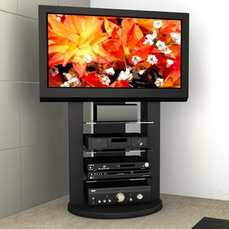 Tv stand with swivel mount
