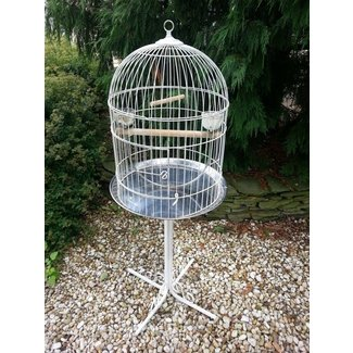 Vintage bird cage on stand extra large