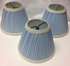 Vintage Mini Lamp Shades Set Of 3 Empire Clip On