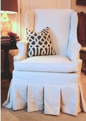 Wing back chair covers