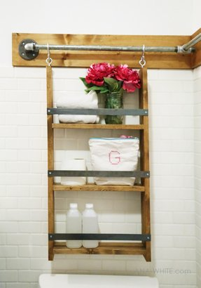 wooden shower caddy - foter