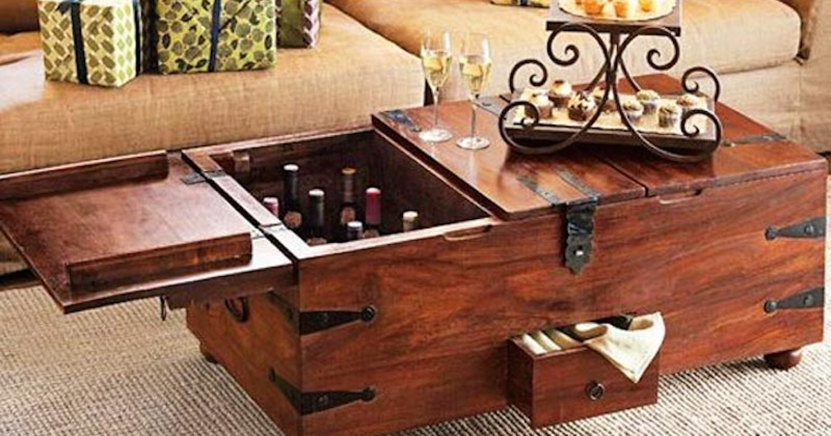 Attrayant Wooden Chest Coffee Table
