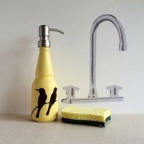 Yellow soap dispenser 8