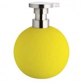 Yellow soap dispenser