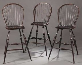 2486 three windsor style bar stools late 20th cen 1