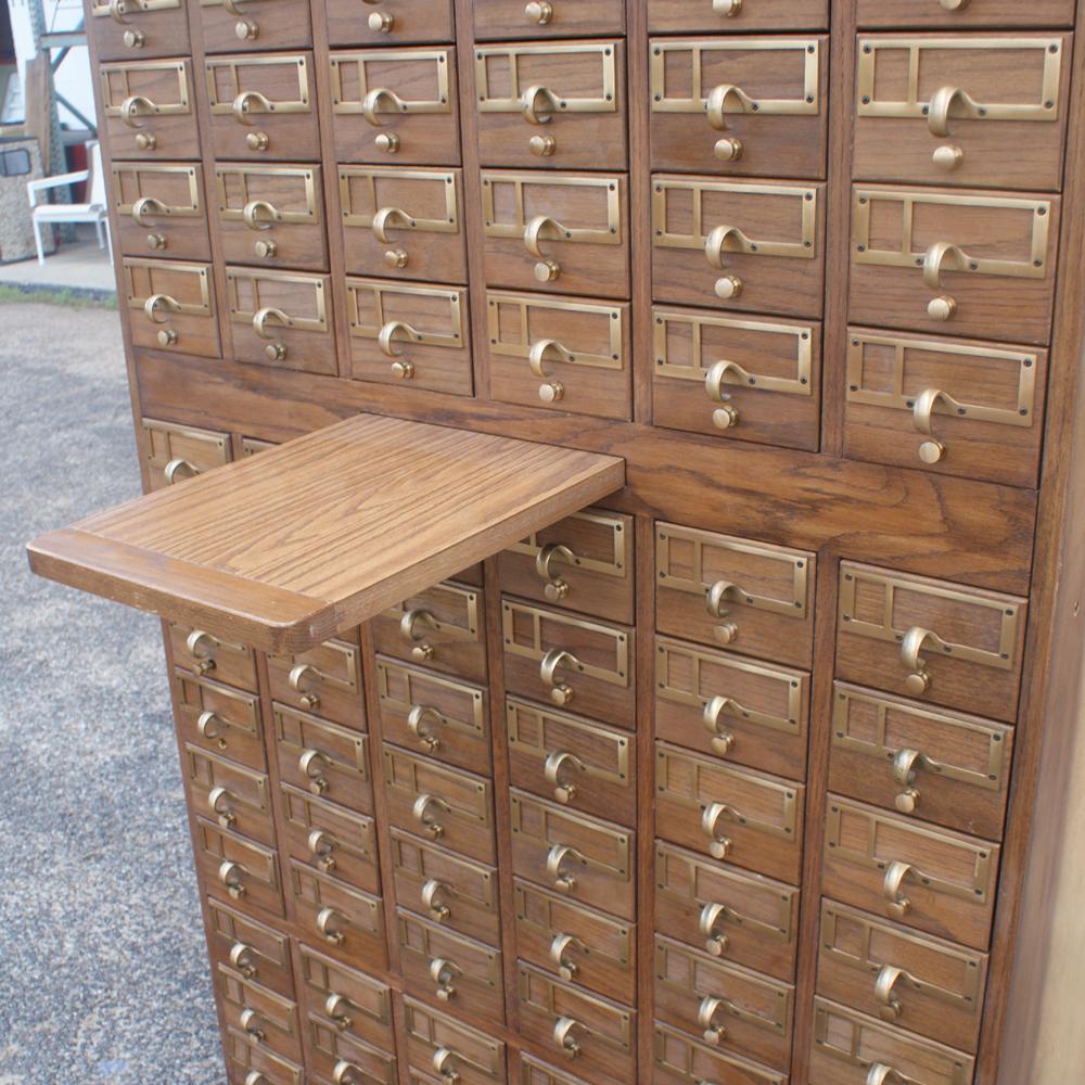 Antique Card File Cabinet