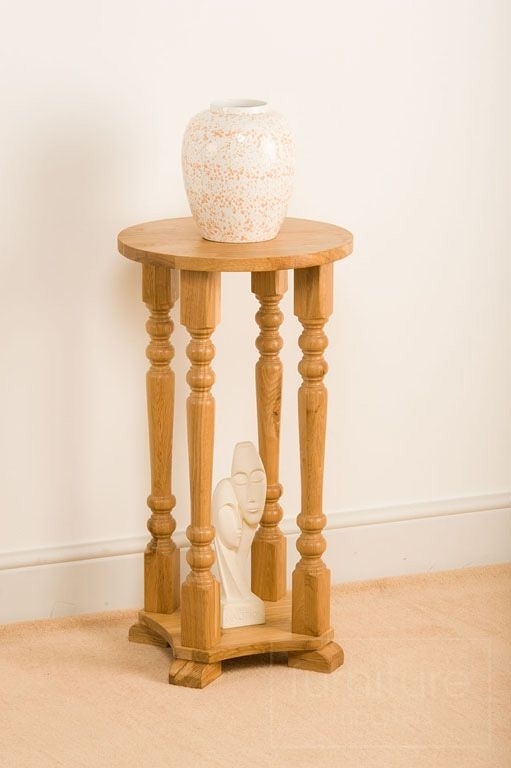 Incroyable Antique Oak Plant Stand 1