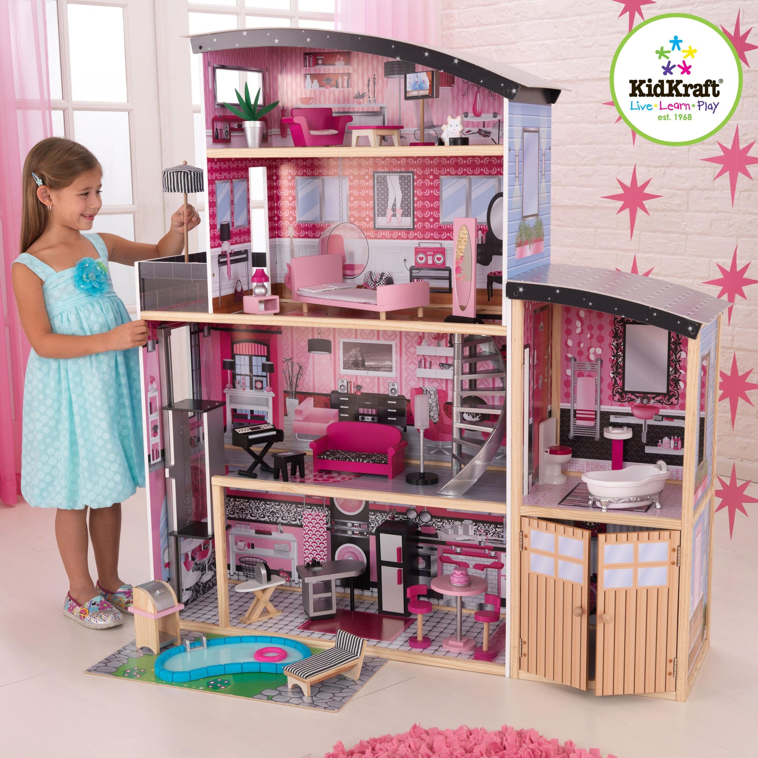 Wonderful Antique Wooden Dollhouse
