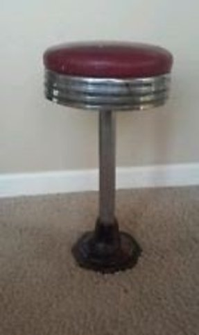 Padded Soda Fountain Stool Foter