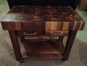 Beautiful black walnut end grain butcher 1