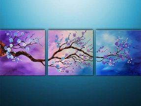 Blue canvas wall art 4