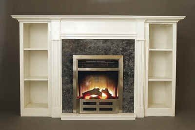 electric fireplace with bookshelves ideas on foter rh foter com Fireplace Entertainment Center Combo White Bookcase with Fireplace