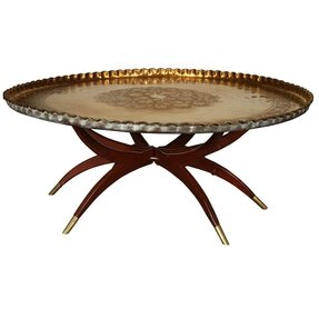 Terrific Large Round Tray For Ottoman Ideas On Foter Machost Co Dining Chair Design Ideas Machostcouk