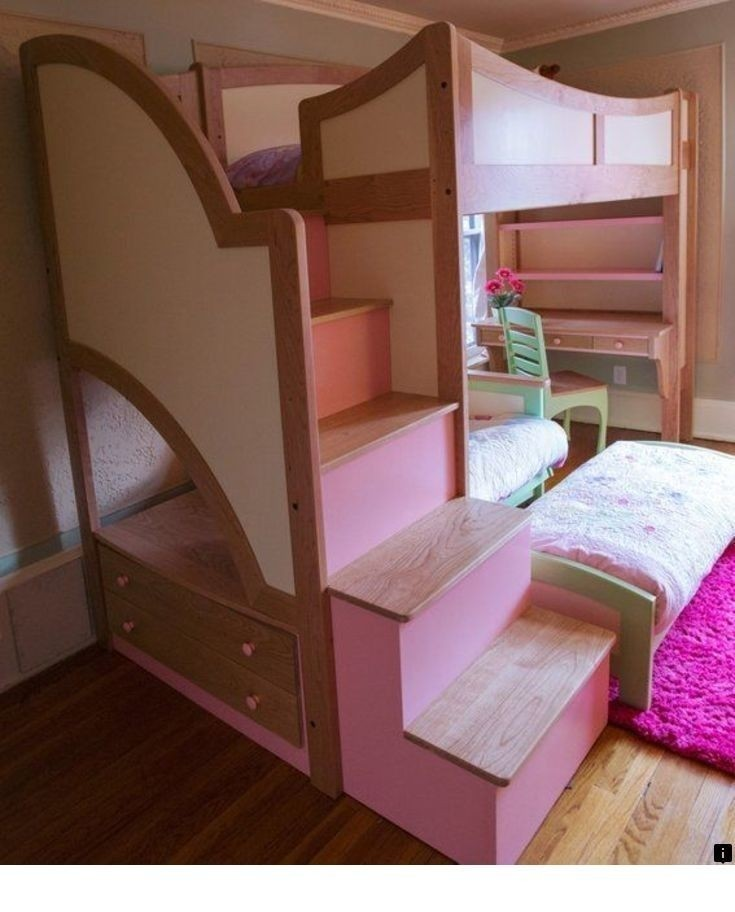 custom made girls twin loft bunk bed with stairs futon loft beds with desk and futon   foter  rh   foter