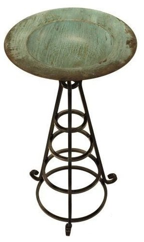 S Copper Designs Bb 01 G 2 Piece Solid Bird Bath With