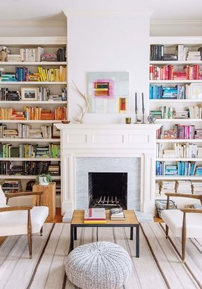 Decorating Ideas For Bookcases By Fireplace