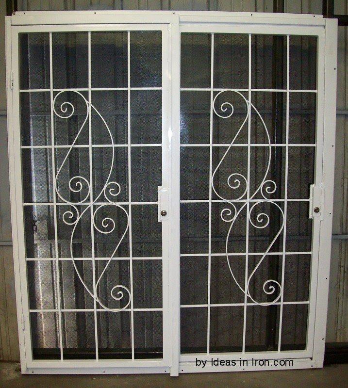 Double sliding patio door stanley doors home & Security Door Stop - Foter