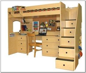Bunk Bed Computer Desk Foter