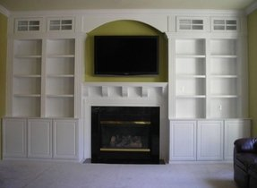 bookshelves with apps photo after photos fireplace